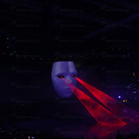 compelling multimedia and laser show on a corporate event