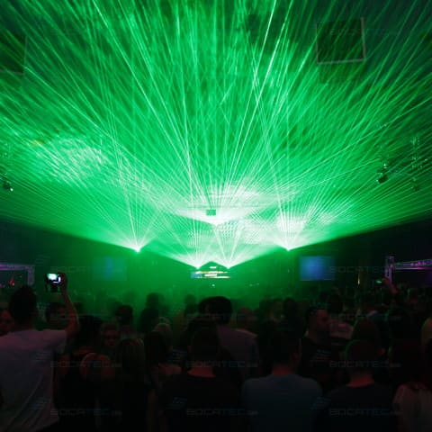 Laser show on the pioneer alpha 2014