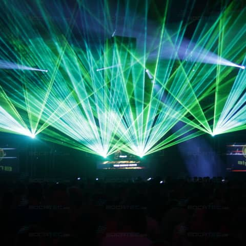 colourful laser shows on the pioneer alpha