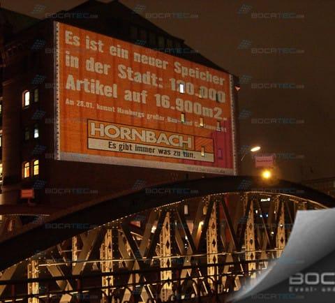 Hornbacher video advertise on wall