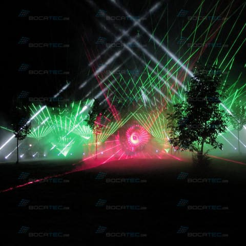 Laser show marriage outdoor