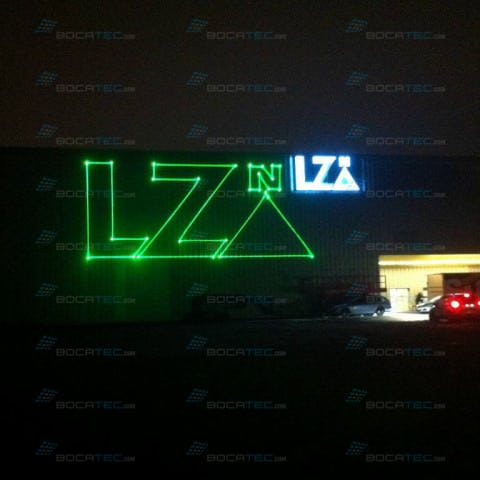 Laser Logo projection