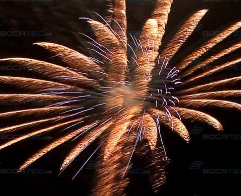 Fireworks in Hamburg