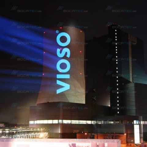 Vioso logo video projection