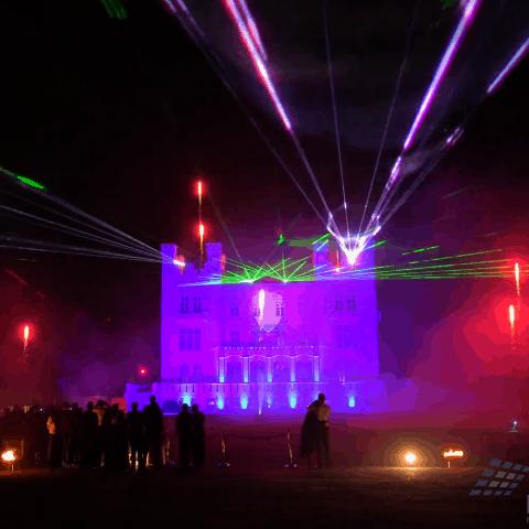 Hochzeits-Spektakel mit Laser, Feuerwerk und Projektion - Grand Hotel Heiligenda