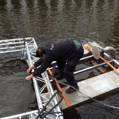 Installation im Wasser