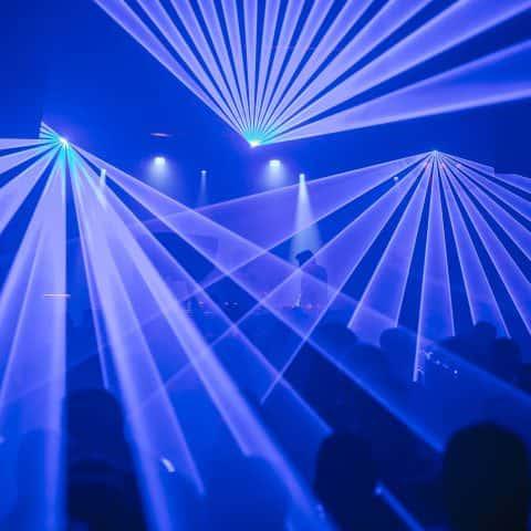 Lasershow für Discotheken