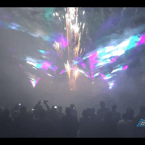 Hochzeit mit Lasershow und Feuerwerk