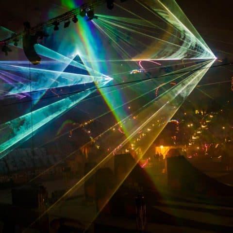 Bunte Lasershow auf Ihrem Event