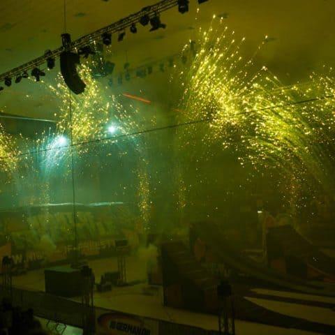 Pyrotechnik Indoor Feuerwerk