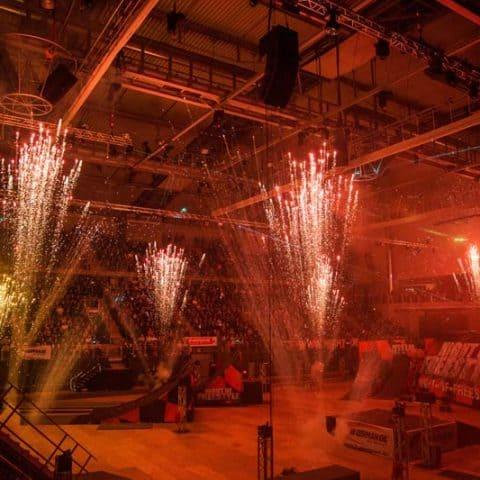Pyrotechnik auf Veranstaltung