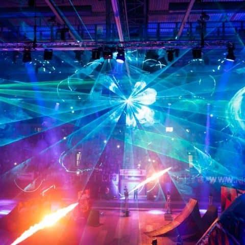 Lasershow Veranstaltung