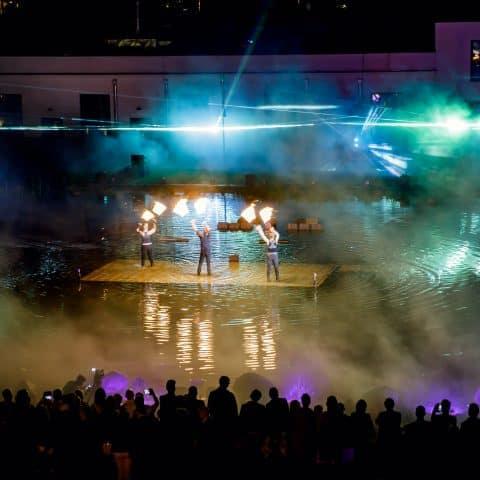 Künstler in Kombination mit unserer Lasershow auf ihrem Firmenevent