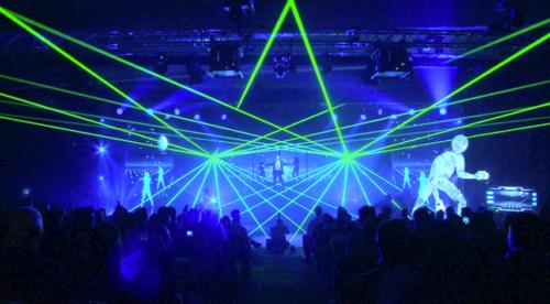 Grüne Lasershow