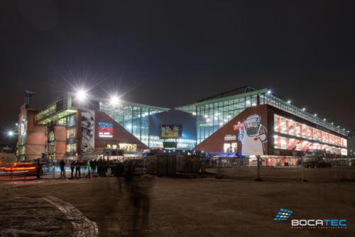 Laserprojektion Stadion