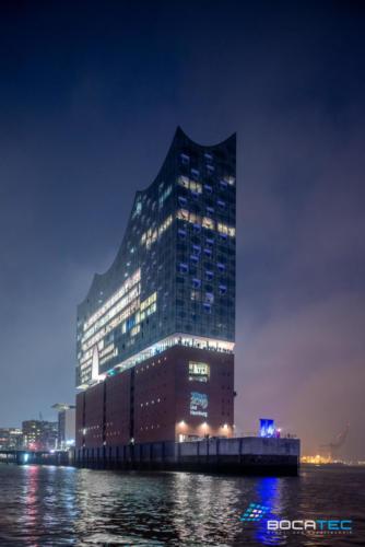 Laserprojektion_Elbphilharmonie
