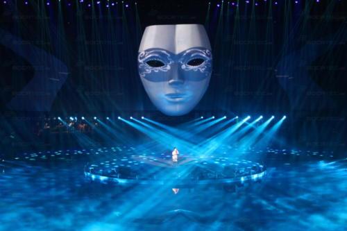 überzeugende Multimedia-und Lasershow auf einem Firmenevent