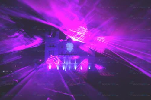 Lasershow mit Nebel