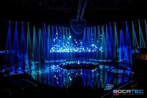 Lasershows auf Messen