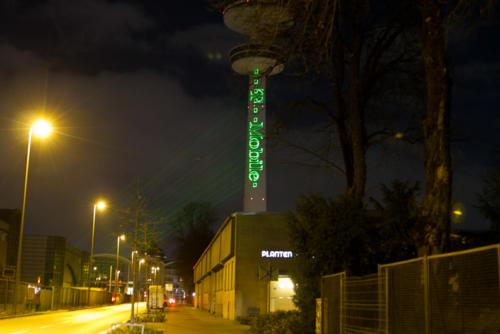 Fernsehturm Laserprojektion