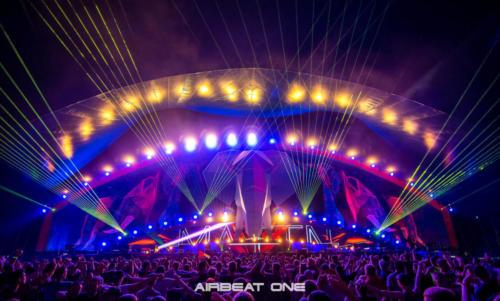 Lasershow auf dem Airbeat